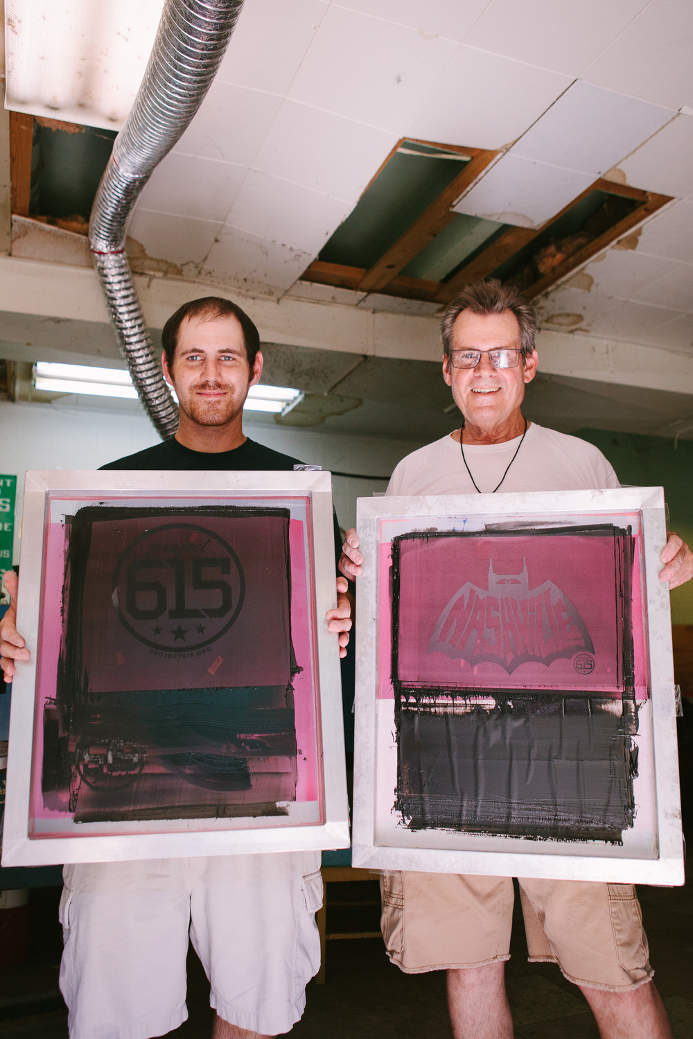 Proudly holding two well known screen designs for Project 615.