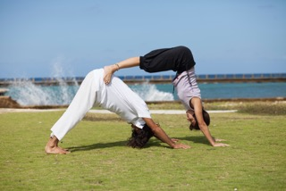 Karen and Gabriel - Habana Yogis in 2013 at Cuba-India Cultural Festival
