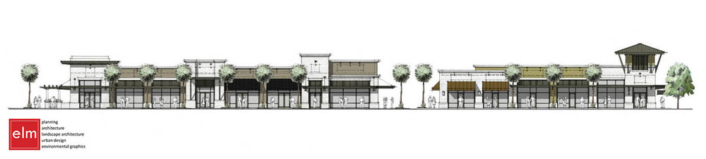 Front Street elevation at Sawgrass Village