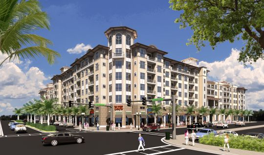 A new rendering of the East San Marco apartment and retail project planned at Hendricks Avenue and Atlantic Boulevard. (Graphic courtesy of Financial News & Daily Record)