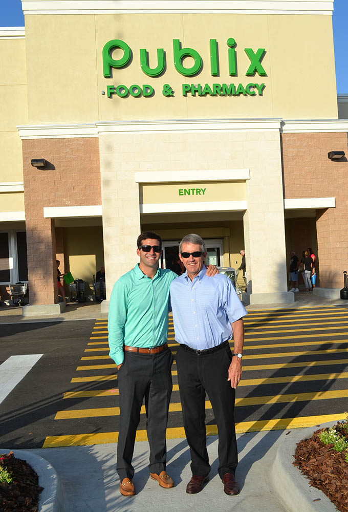 Chip (right) & Riley Skinner of Skinner Bros. Realty at the Grand Opening of Publix at Moultrie Square