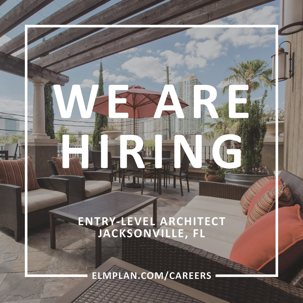 Does this sound like a good fit for you or someone you know? Click below to learn more and apply! & ELM is Hiring: Entry-Level Architect in Jacksonville Florida \u2014 ELM ...