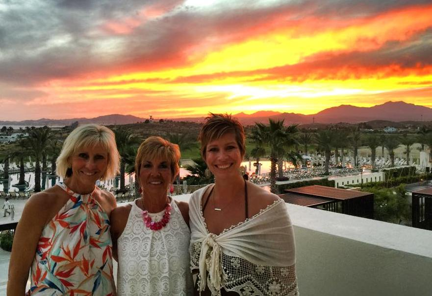 CABO sunset with Jody, Tina and Tracy.jpg