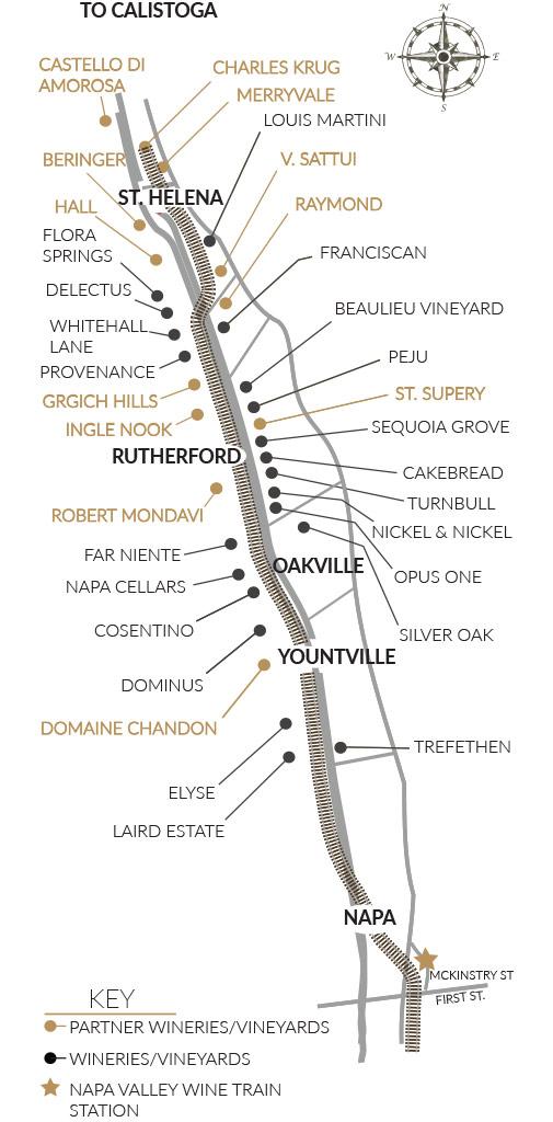 Wine Train Route_Napa Valley