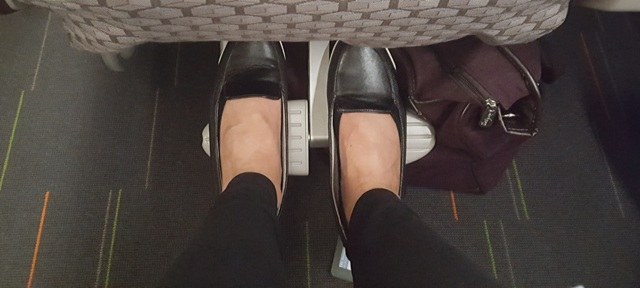 """EVA AIRLINES Elite Class has a 38"""" Pitch- which was quite comfortable!"""