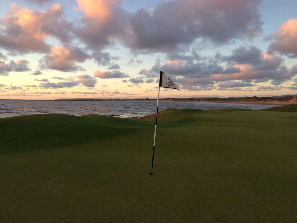 18th hole at the Trump Doonbeg Hotel