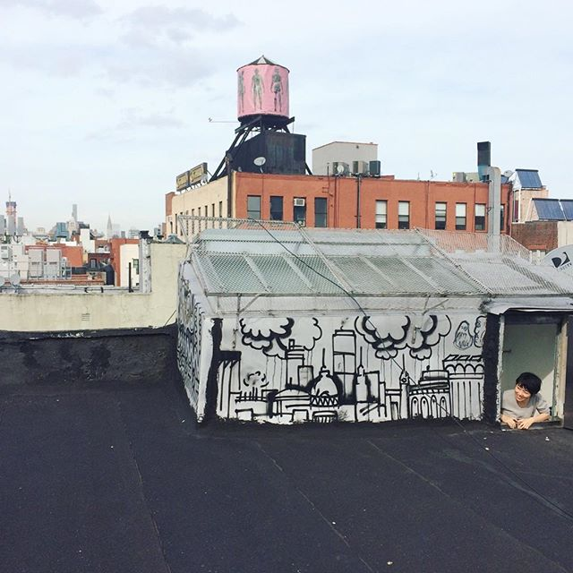 Jaime on the roof