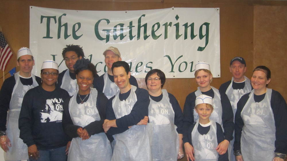 The St. James MLK day breakfast serving crew