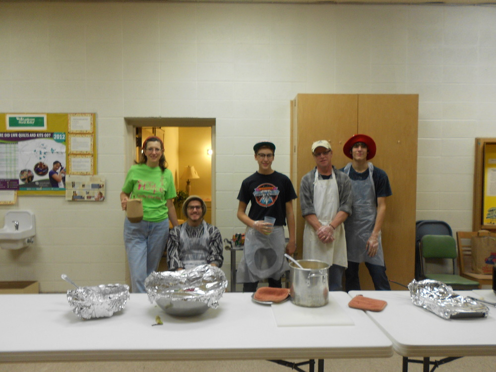 Volunteers at the Mt. Carmel meal Saturday, February 23rd