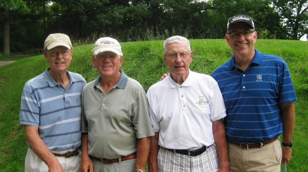David, Bob, Hap and Dan - a committed foursome