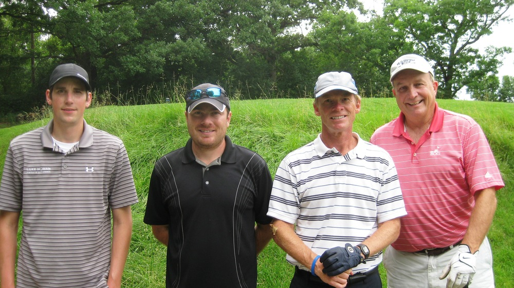 George, Kyle, Carl, Bob - golfing up a storm
