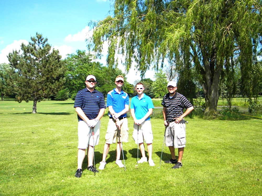 Camron, Mike, Chris and Shane - golfers extraordinaire