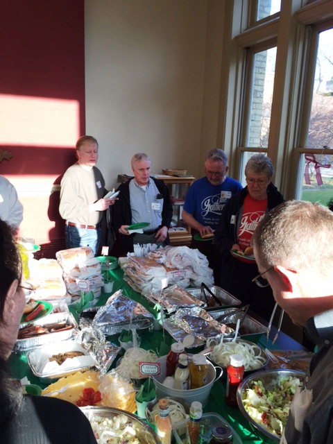 Volunteers enjoyed picnic fare