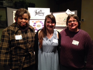 Staff members Angela, Becky, and Marianne at the Gathering's first ever major donor event