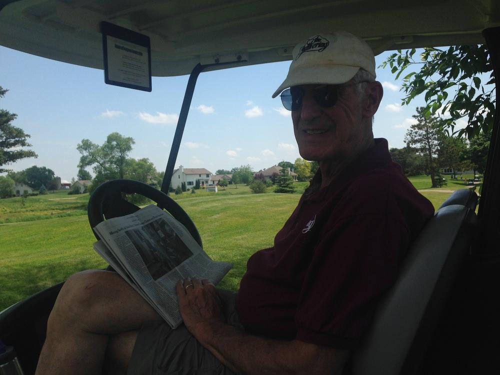 Harry Moseley in Cart.JPG