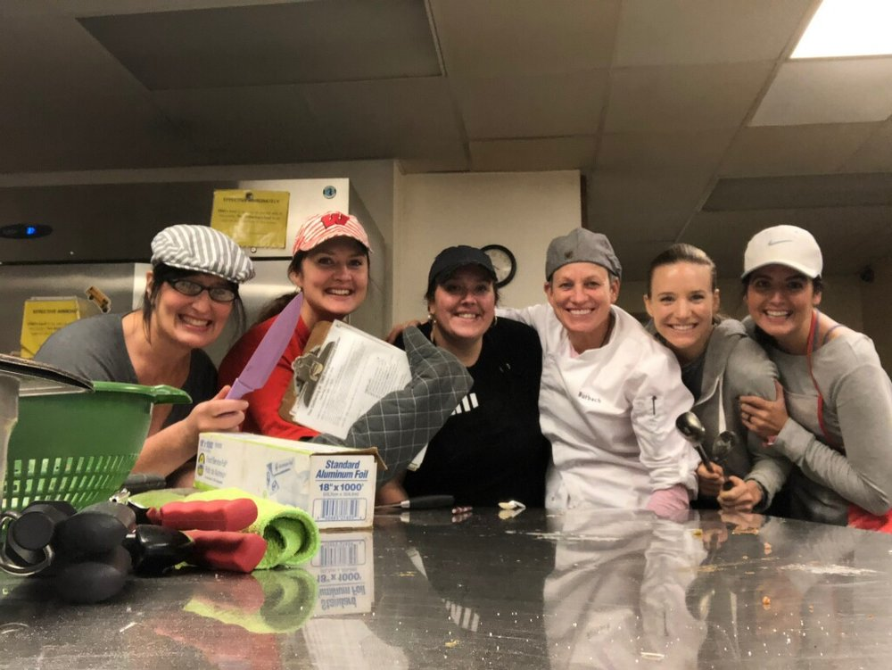 Our newest cook team, The Spice Girls.