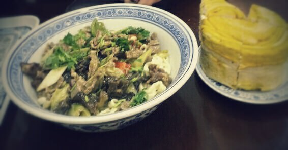 My Favourite Dish in Xian found in the Muslim Quarter: a hot noodle dish. Spicy, Sicuanpeppercorns...  Heaven. Miss this.