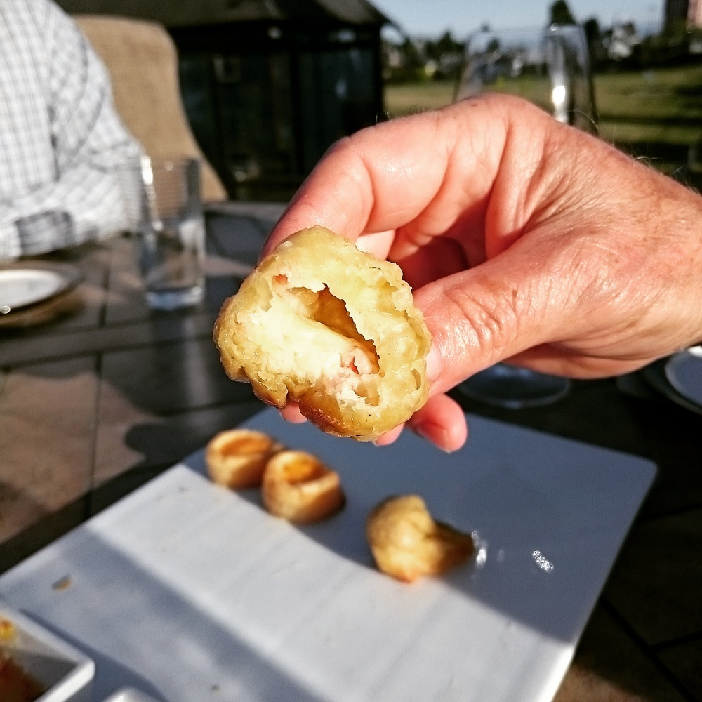 Crispy Wontons Filled with Camembert and bacon from Cook's Day Off