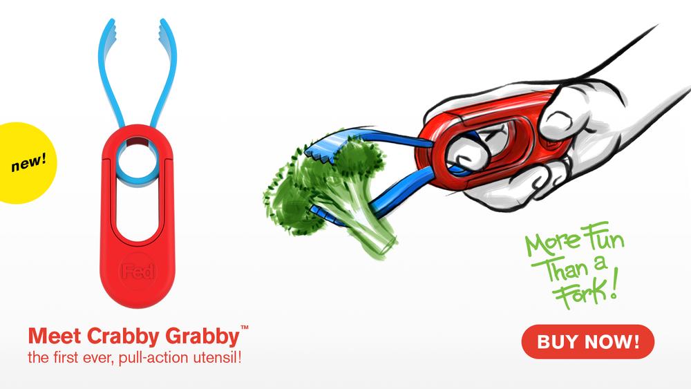Crabby Grabby Pull-Action Utensil