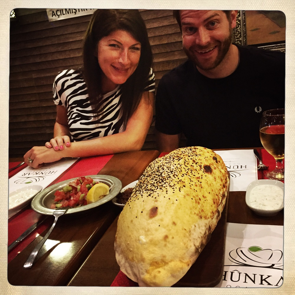 Lavash bread, about to be devoured by hubby and sis.