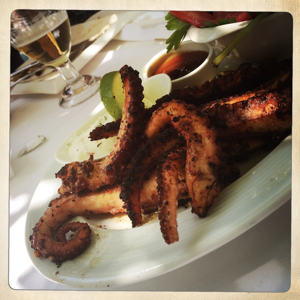 Best EVER grilled octopus at Turkuaz Meyhane, Kas, marinated in teriyaki and oyster sauce.