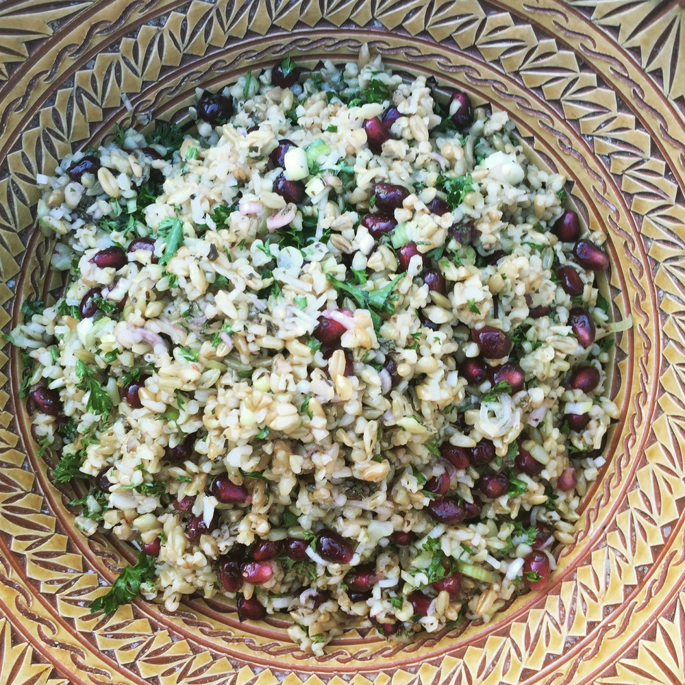 Freekeh salad. The very definition of yum
