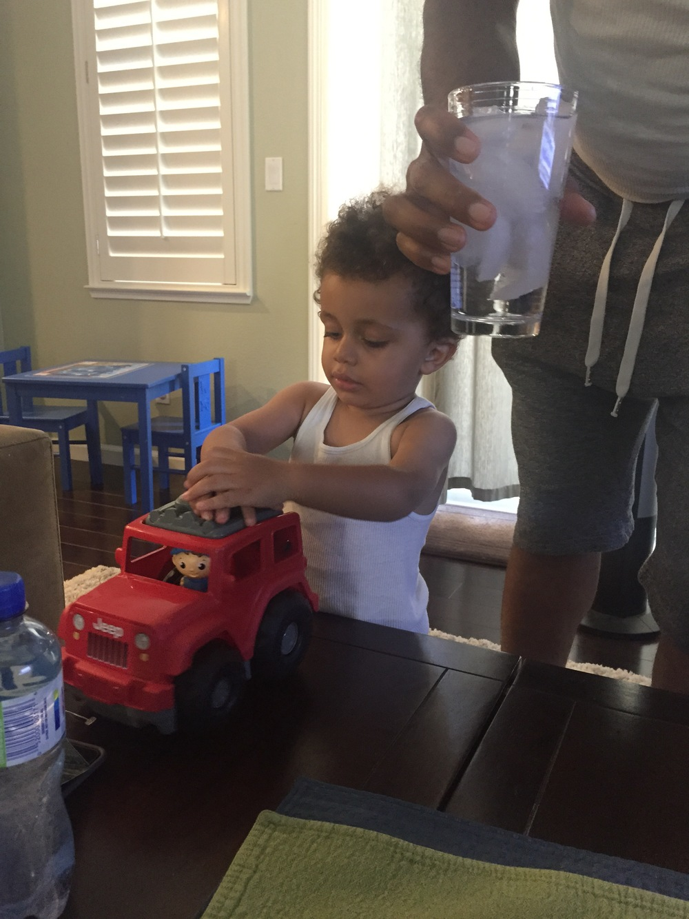 Jax and truck Uncle Inno brought
