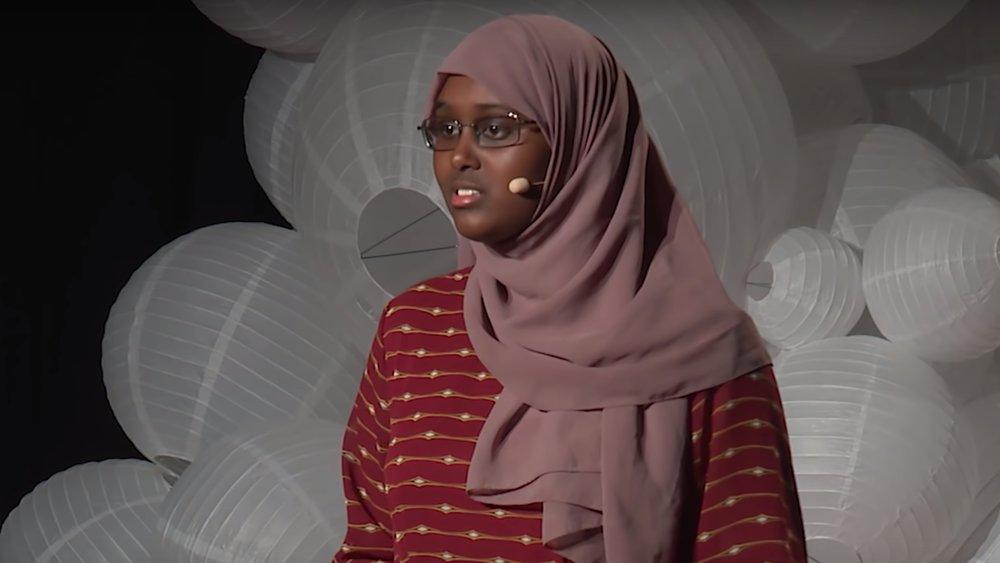 Meridian 12th grader Ifrah Gurhan presents at TEDx Youth at Beacon Street