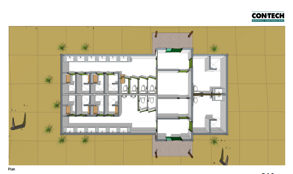 Camp Kadesh Shower House Floor plan