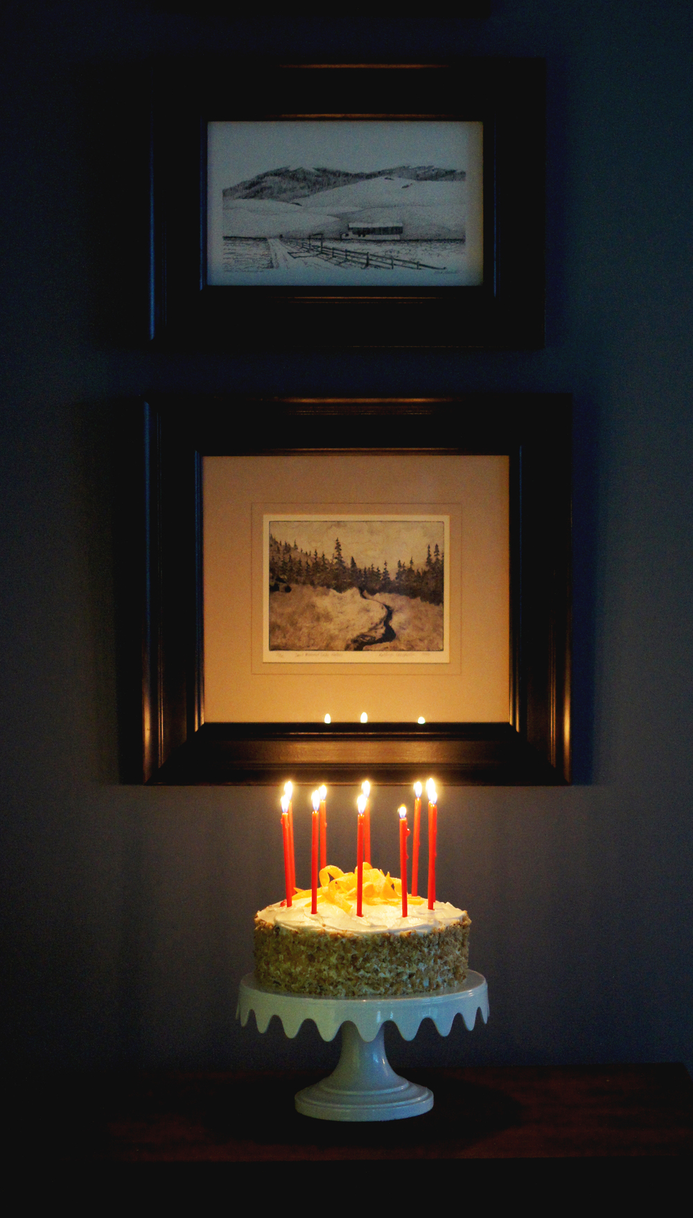 Acanthus House | Carrot Cake 2015 with Candles