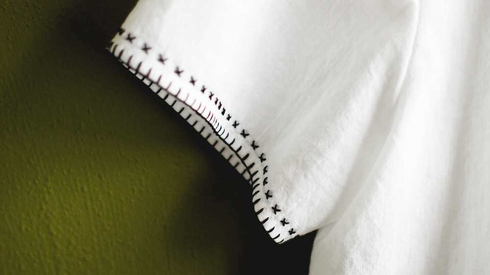 Acanthus House | White Embroidered Scout Madewell Sleeve Detail