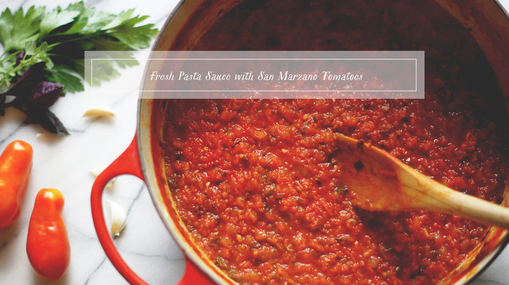 Acanthus House | Fresh Pasta Sauce with San Marzano Tomatoes