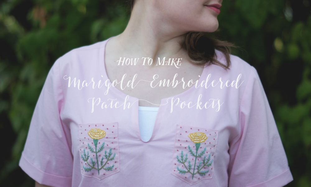 Acanthus House | How to Make Marigold Embroidered Patch Pockets