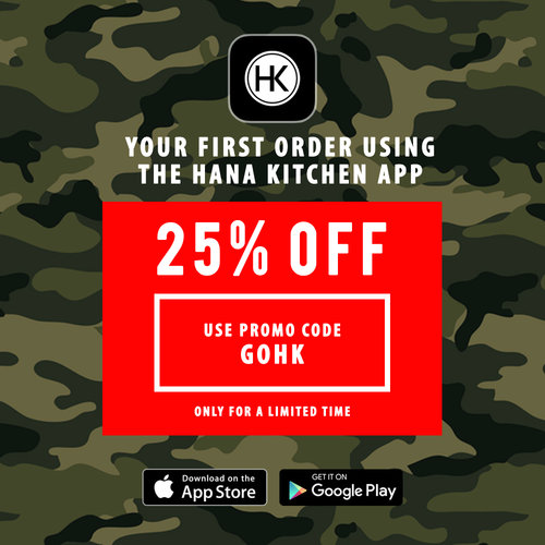 25% OFF ON YOUR FIRST ORDER WITH OUR APP — HANA KITCHEN