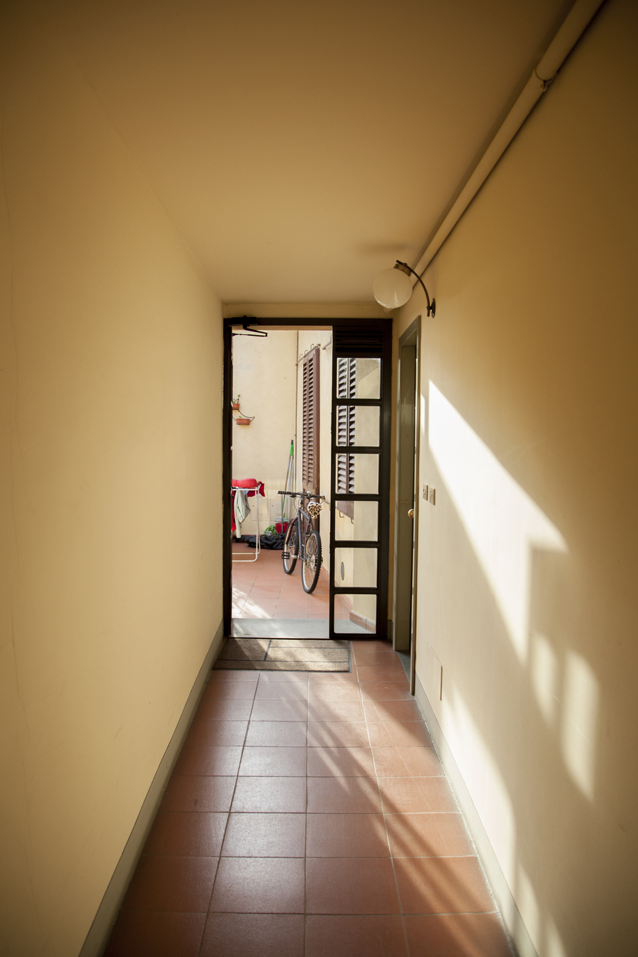 Inside AirBnb apartment in Florence, Italy.