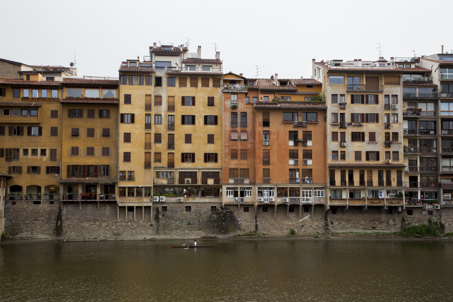 Along the river in Florence, Italy.