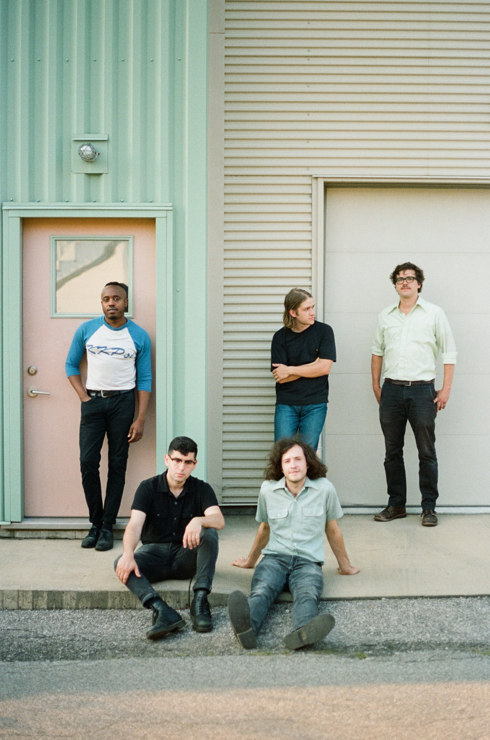 Photo of band Durand Jones and the Indications in Bloomington, Indiana.