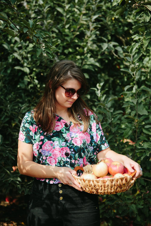 Portrait of Shelly Westerhausen of Vegetarian 'Ventures in Bloomington, Indiana.