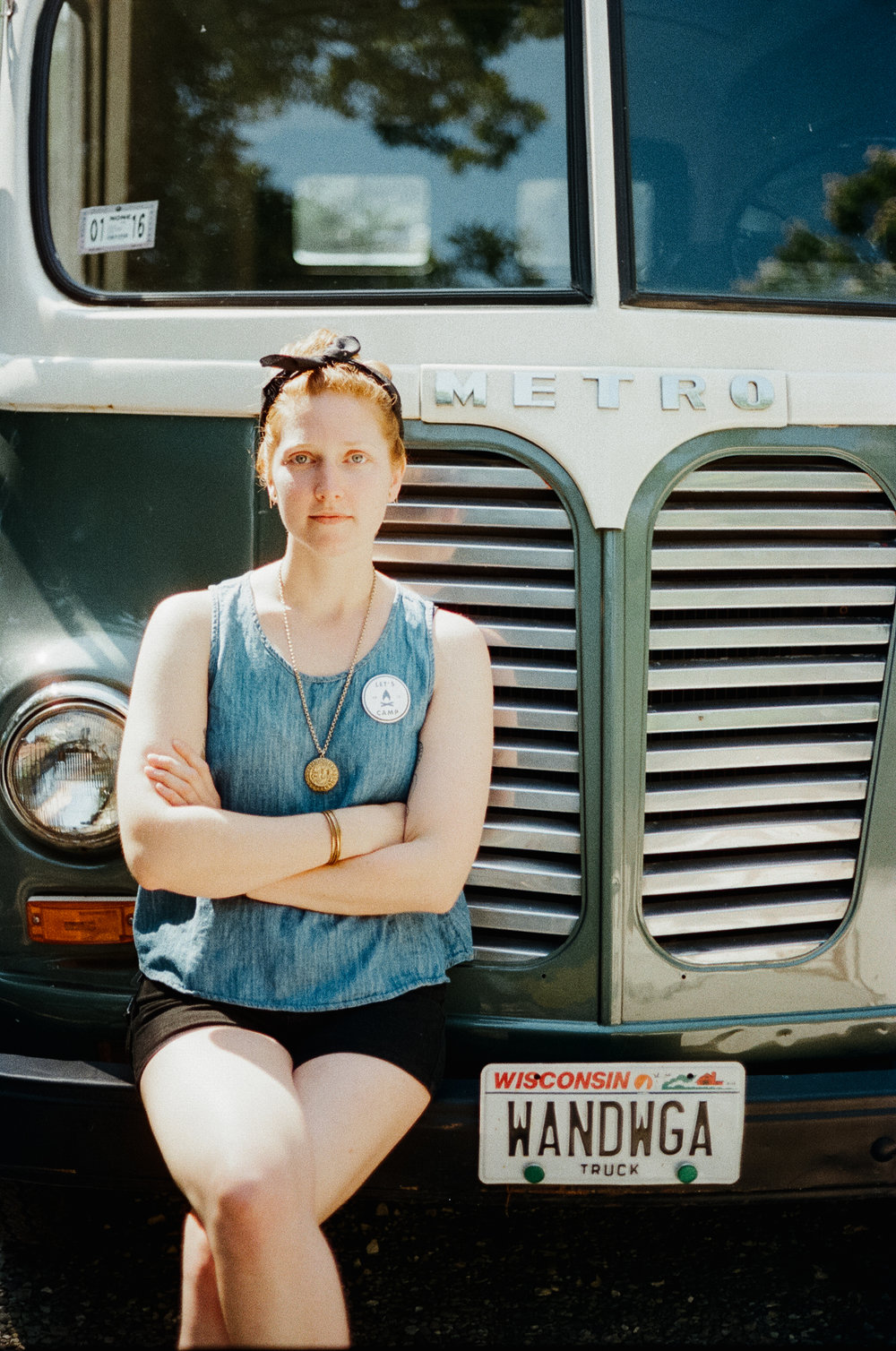 A portrait of Leah Fithian of  Driftless magazine  at  Camp Wandawega  in Elkhorn, Wisconsin during Let's Camp 2018 hosted by  The Glossary  and  Feminest .