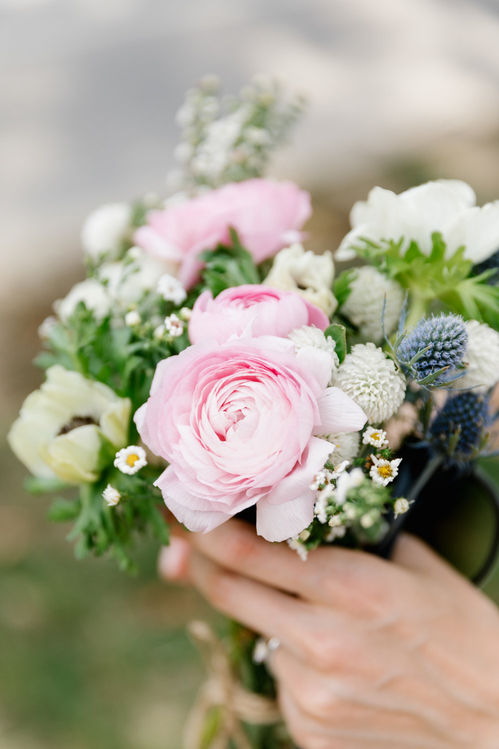 A photo of the bride's bouquet for her wedding at Indiana University in Bloomington, Indiana.