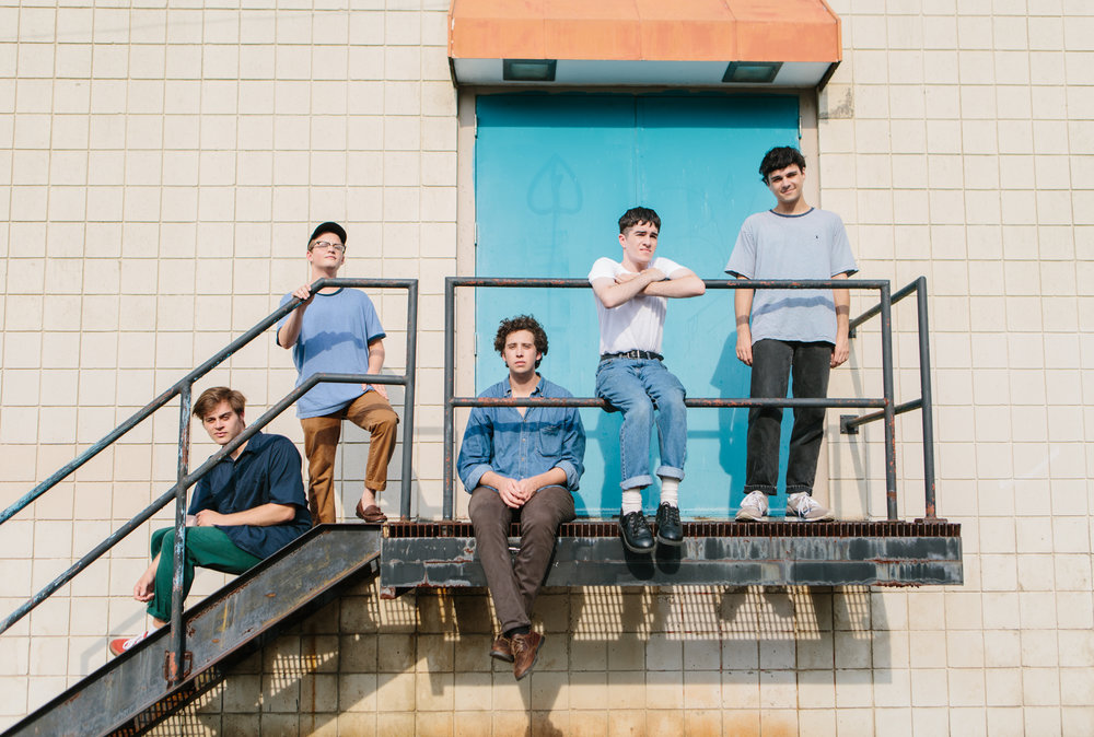 Portrait music photography for Bloomington, Indiana band Hoops for Urban Outfitters.