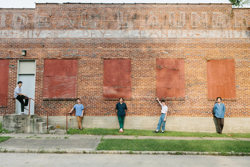 Portrait and music photography for Bloomington, Indiana band Hoops for Urban Outfitters.