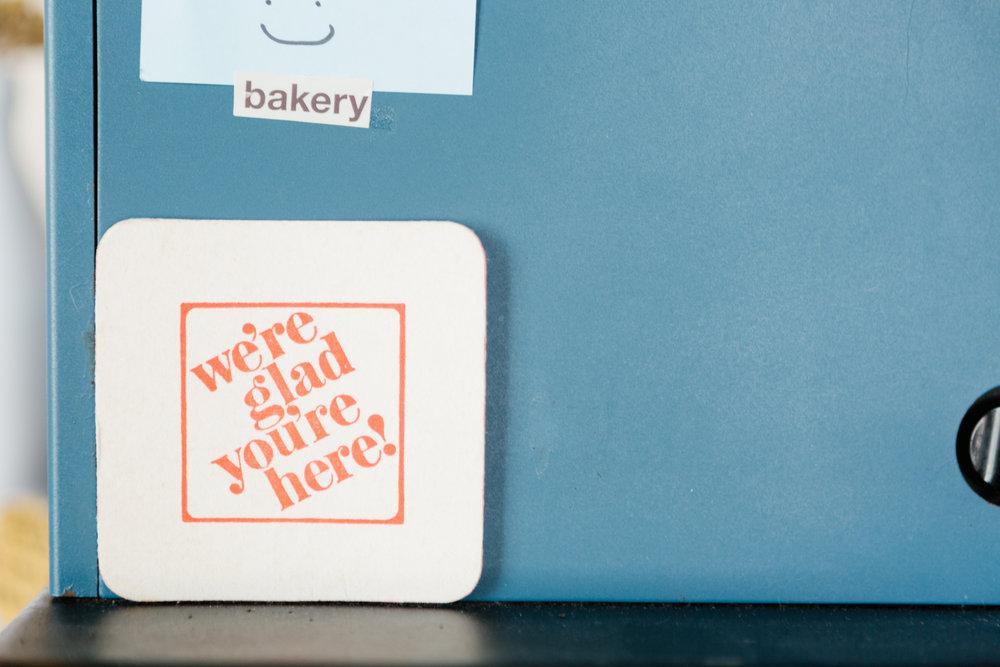 Editorial photography for Rainbow Bakery, a vegan bakery in Bloomington, Indiana.
