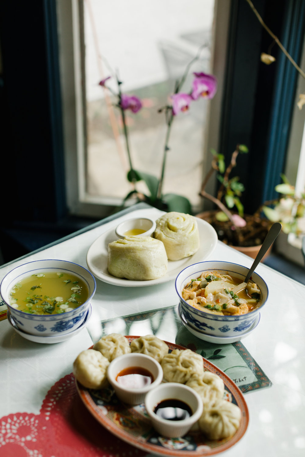 An editorial food photograph of  Anyetsang's Little Tibet  in Bloomington, Indiana for  Bon Appétit  magazine.