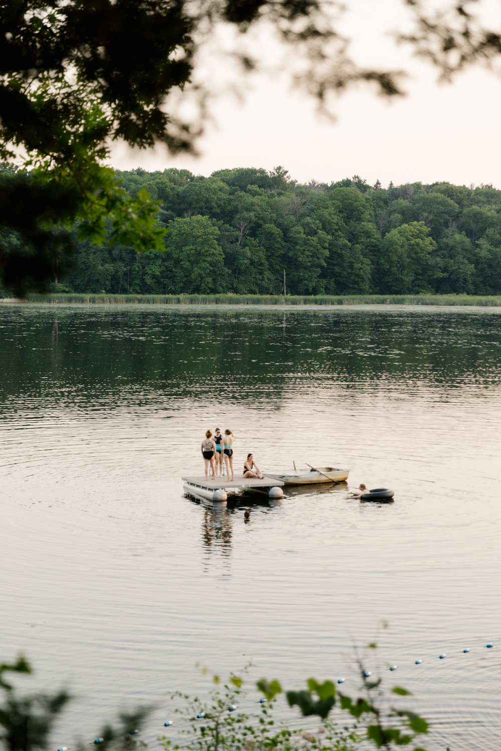 A photo of girls in the lake at  Camp Wandawega  in Elkhorn, Wisconsin.