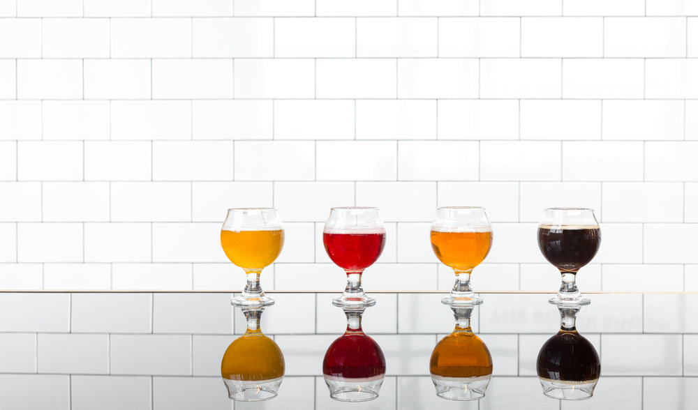 A photo of sour beer at  Upland Brewing Company  in Bloomington, Indiana.