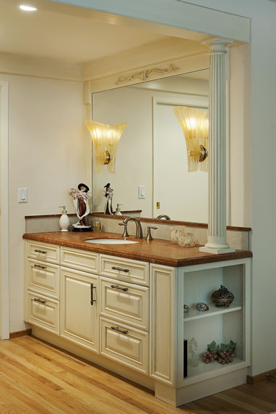 A vanity with an Italian flare.