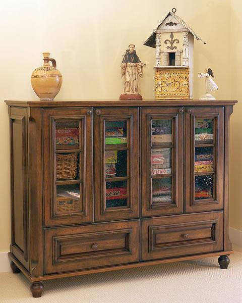 A storage cabinet.