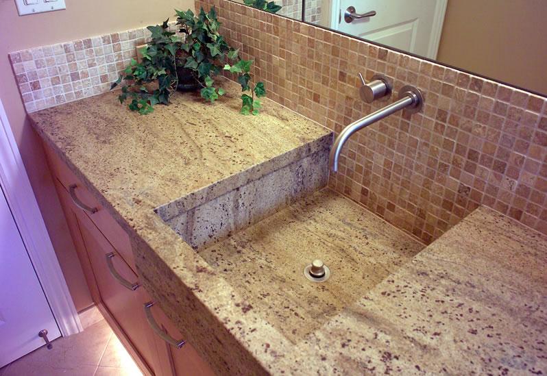 Unique bathroom sink.