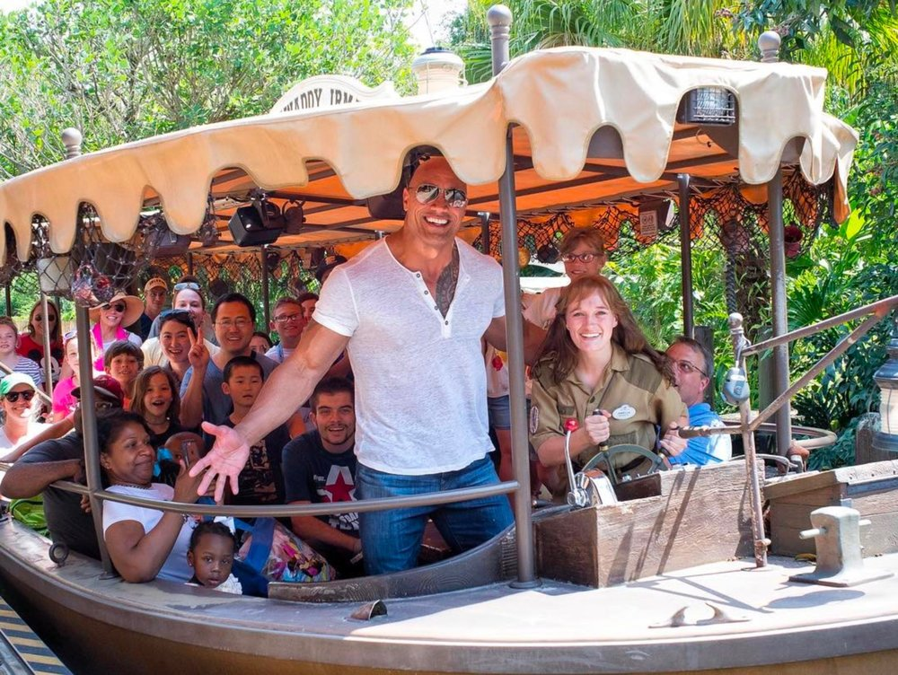 Disneyland + the Rock = Better! -